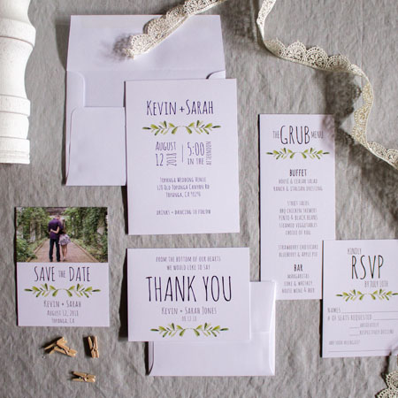 Custom Stationery Suite